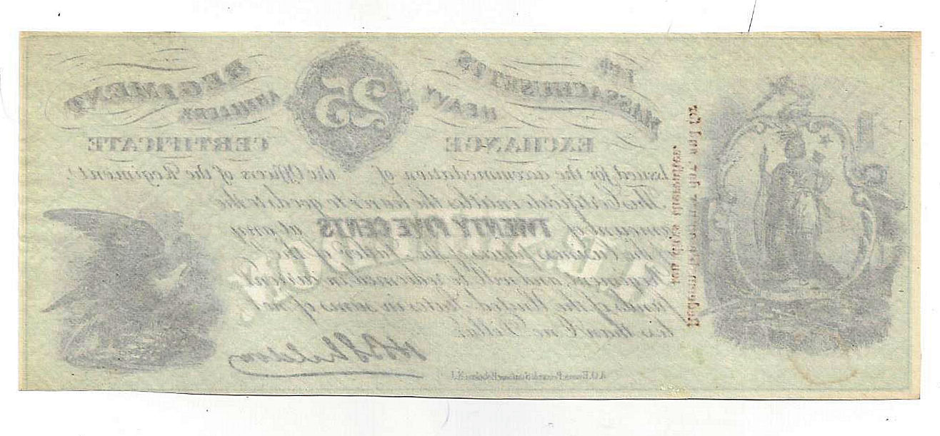 14th massachusetts heavy artillery regiment twenty five cent 14th massachusetts heavy artillery regiment twenty five cent exchange certificate xflitez Image collections