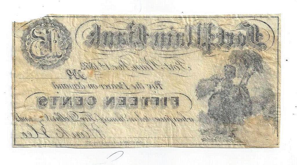 1862 Fort Plain Bank, New York – Fifteen Cent Obsolete Unissued ...