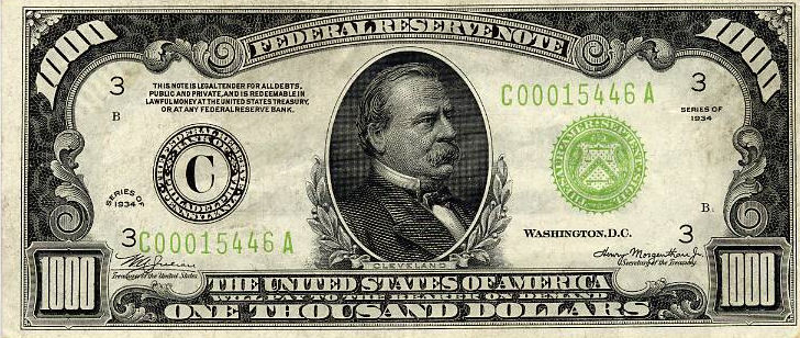 Small Federal Reserve Notes
